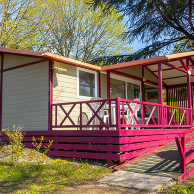 Location chalet 4 personnes PMR Camping Oasis du Berry