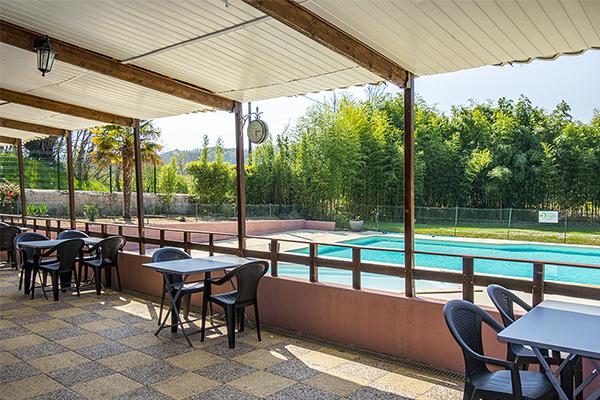 Terrasse du Restaurant du Camping l'Oasis du Berry