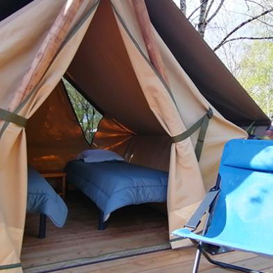 Tente lodge pour deux personne